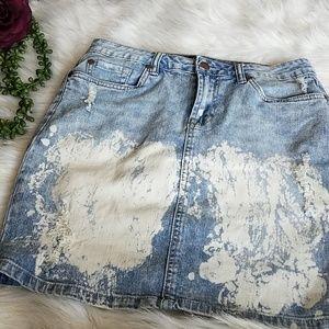♾VENUS Distressed Jean Skirt